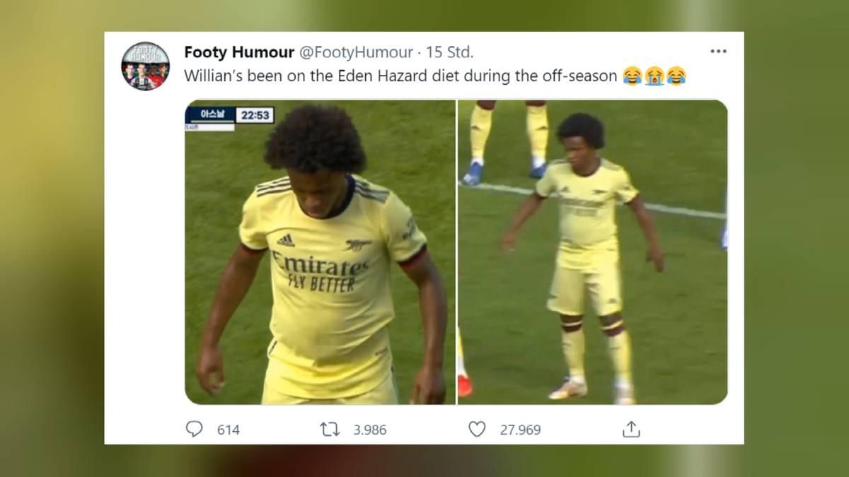 Der FC Arsenal hat ein Vorbereitungsspiel gegen den schottischen Erstligisten Hibernian Edinburgh mit 1:2 verloren – für Aufregung sorgte aber ein anderes Thema.