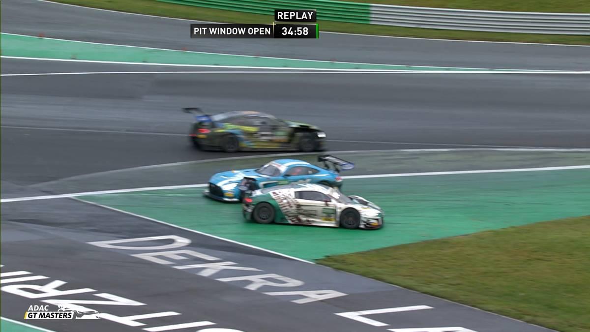 Für Maro Engel und Luca Stolz endet das erste Rennen auf dem Lausitzring früh. Der Traum von der Meisterschaft droht für die Toksport-WRT-Fahrer zu platzen.