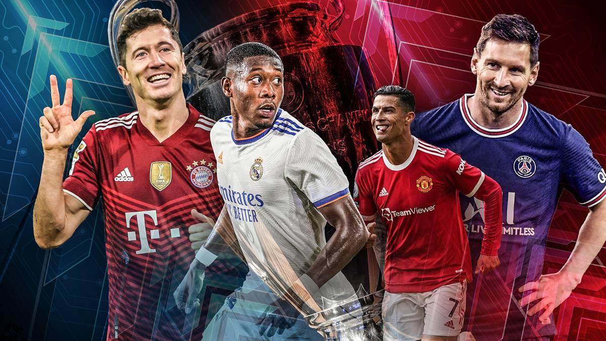 Selten gab es in der Champions League ähnlich viele starke Teams. Manchester City, Paris Saint-Germain, Manchester United, der FC Bayern - wer ist Topfavorit auf den Titel?