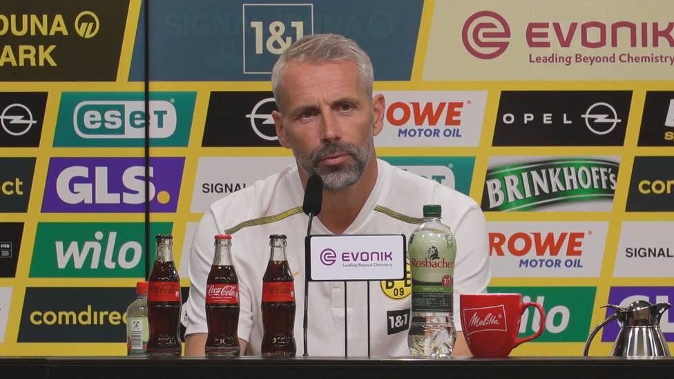 Trotz zweier Tore und zwei Vorlagen bei der 5:2-Gala der Dortmunder, gibt es für Erling Haaland nicht nur Lob. BVB-Coach Marco Rose erklärt, an was der Stürmerstar noch arbeiten muss.