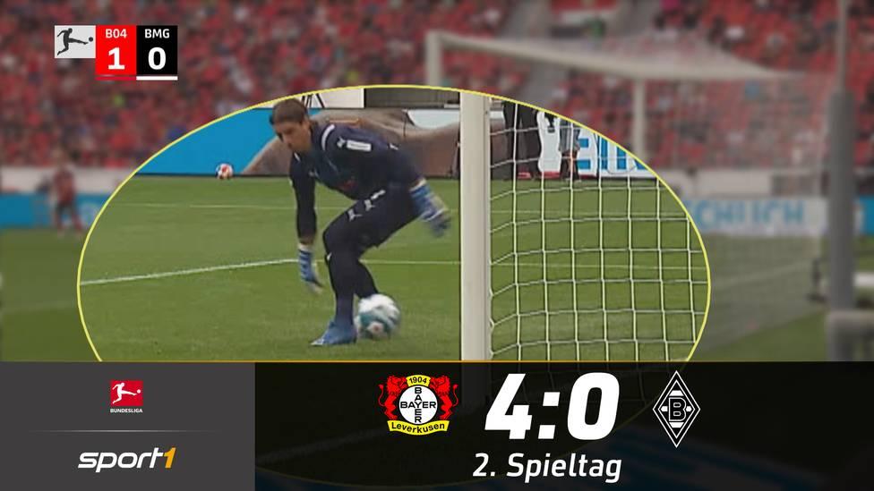 Leverkusen hat das erste Heimspiel der Saison mit 4:0 gegen Gladbach gewonnen. Die Fohlen erlebten nicht nur wegen des Ergebnisses einen völlig gebrauchten Abend.