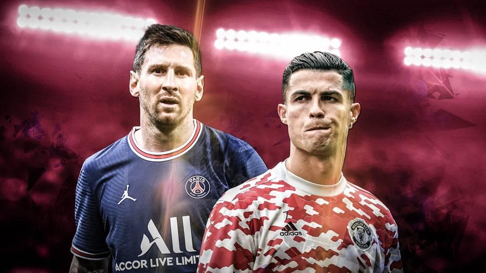 """Durch ihre Transfers zu Manchester United und Paris Saint-Germain haben Cristiano Ronaldo und Lionel Messi die """"GOAT""""-Debatte neu angeheizt. Wer liegt gerade vorne?"""