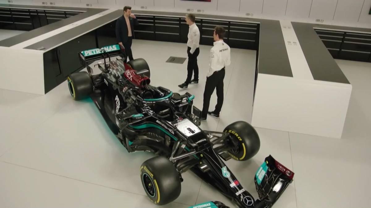 Mercedes hat mit dem W12 das neue Auto für die Formel-1-Saison 2021 vorgestellt. Lewis Hamilton will mit dem Boliden alleiniger Fahrer-Rekordweltmeister vor Michael Schumacher werden.