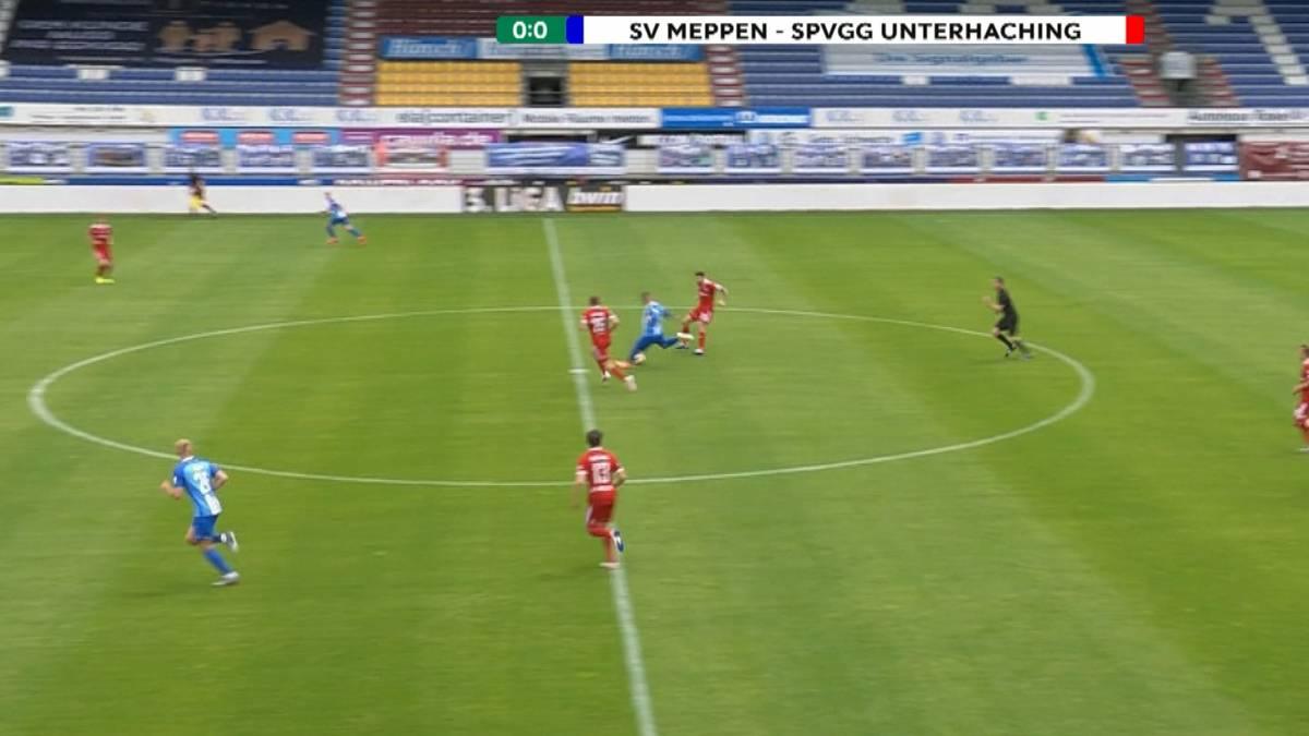 Der SV Meppen fährt zuhause einen klaren Sieg gegen Unterhaching ein. Deniz Undav führt die Emsländer mit einem Traumtor aus 50 Metern auf die Siegerstraße.
