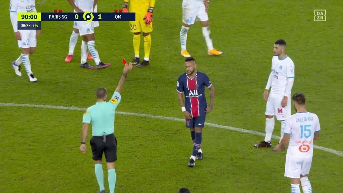 Meister PSG kassiert trotz Neymar im zweiten Saisonspiel die zweite Niederlage. Die Partie gegen Erzrivale Marseille wird von Härte geprägt - und eskaliert.