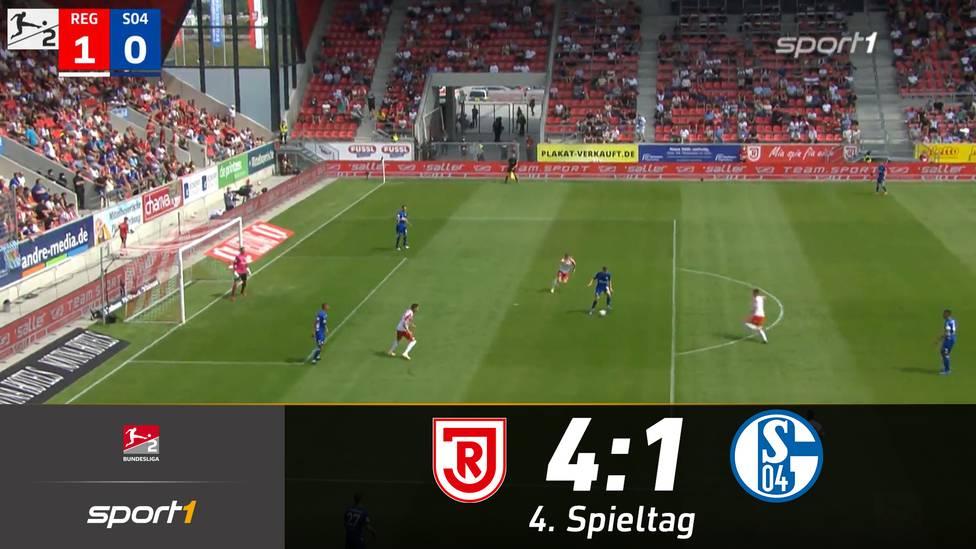 Der SSV Jahn Regensburg bleibt auch nach dem vierten Spieltag Tabellenführer, ohne Punktverlust. Schalke ging mit einem desolaten Auftritt beim Jahn unter.