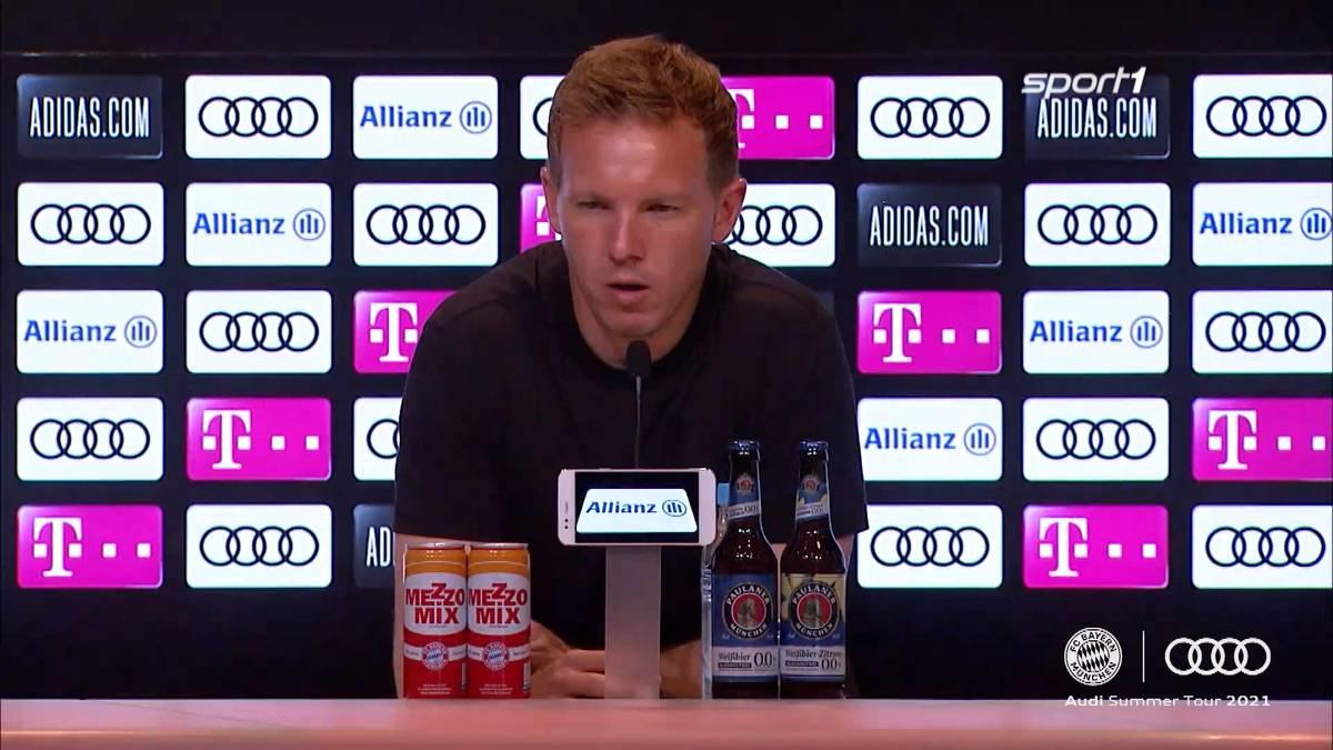 Kingsley Coman muss bei Bayerns Testspiel-Pleite gegen Neapel ausgewechselt werden. Julian Nagelsmann verrät, wie es dem Franzosen geht.