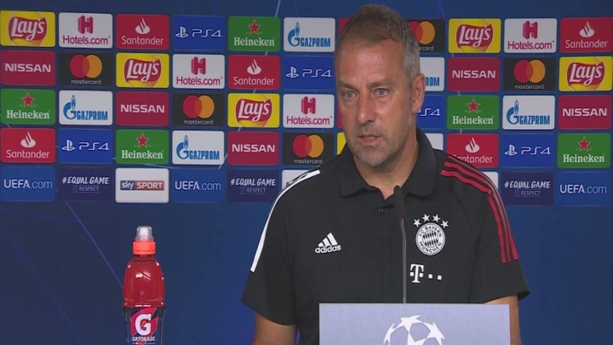 Auf der Pressekonferenz des FC Bayern verkündet Hansi Flick den Ausfall von Kingsley Coman im Champions-League-Rückspiel gegen Chelsea - und spricht über die beiden möglichen Alternativen.