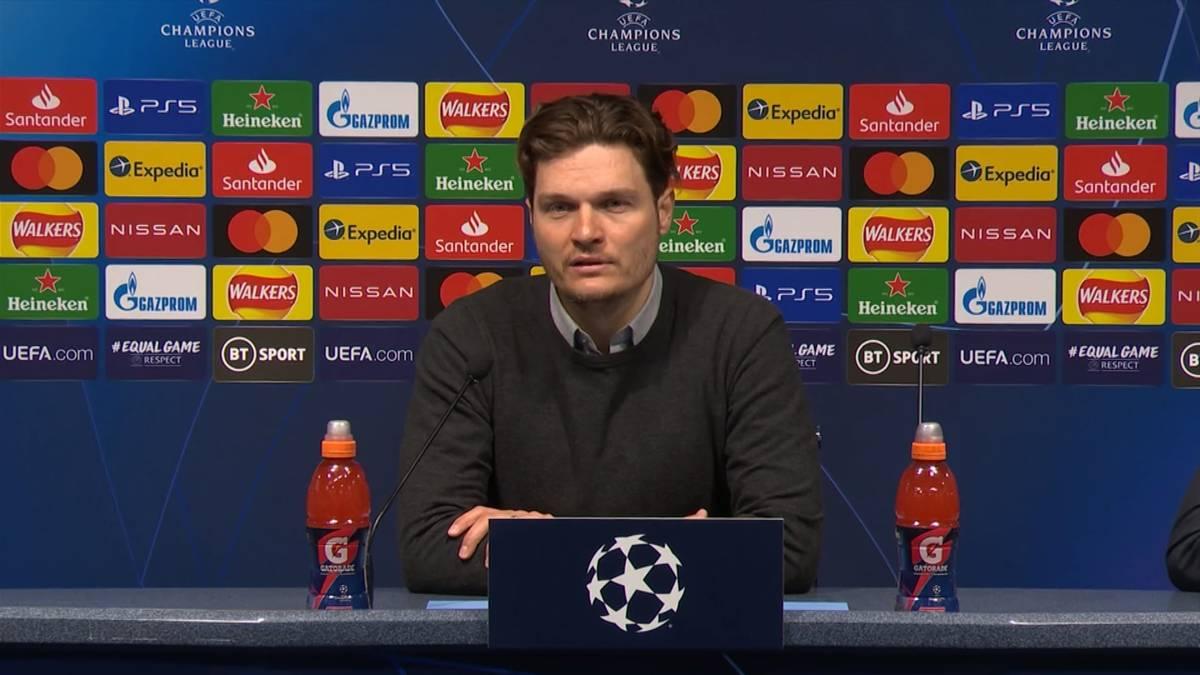 Nach der knappen Niederlage gegen Manchester City lobt Edin Terzic sein Team für eine gute Mannschaftsleistung. Der BVB-Trainer wittert für das Rückspiel die Chance aufs Weiterkommen.