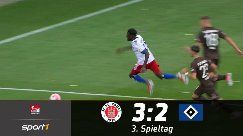 Der FC St. Pauli sichert sich erneut den Derbysieg gegen den Hamburger SV. Eine umstrittene Szene sorgt dabei aber für Aufregung.