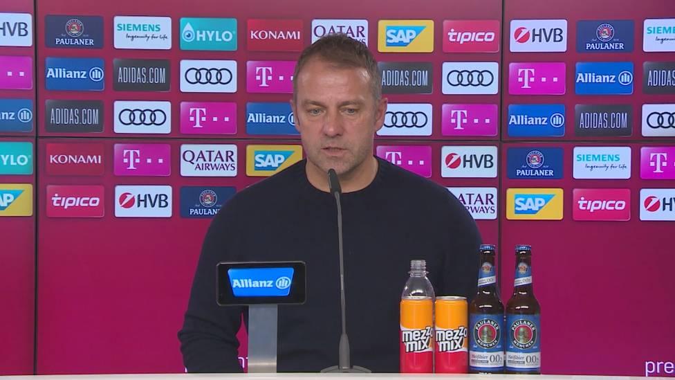 Hansi Flick spricht auf der Pressekonferenz vor dem Spiel gegen Mainz 05 über Tiago Dantas und erhöht den Druck auf den Youngster.