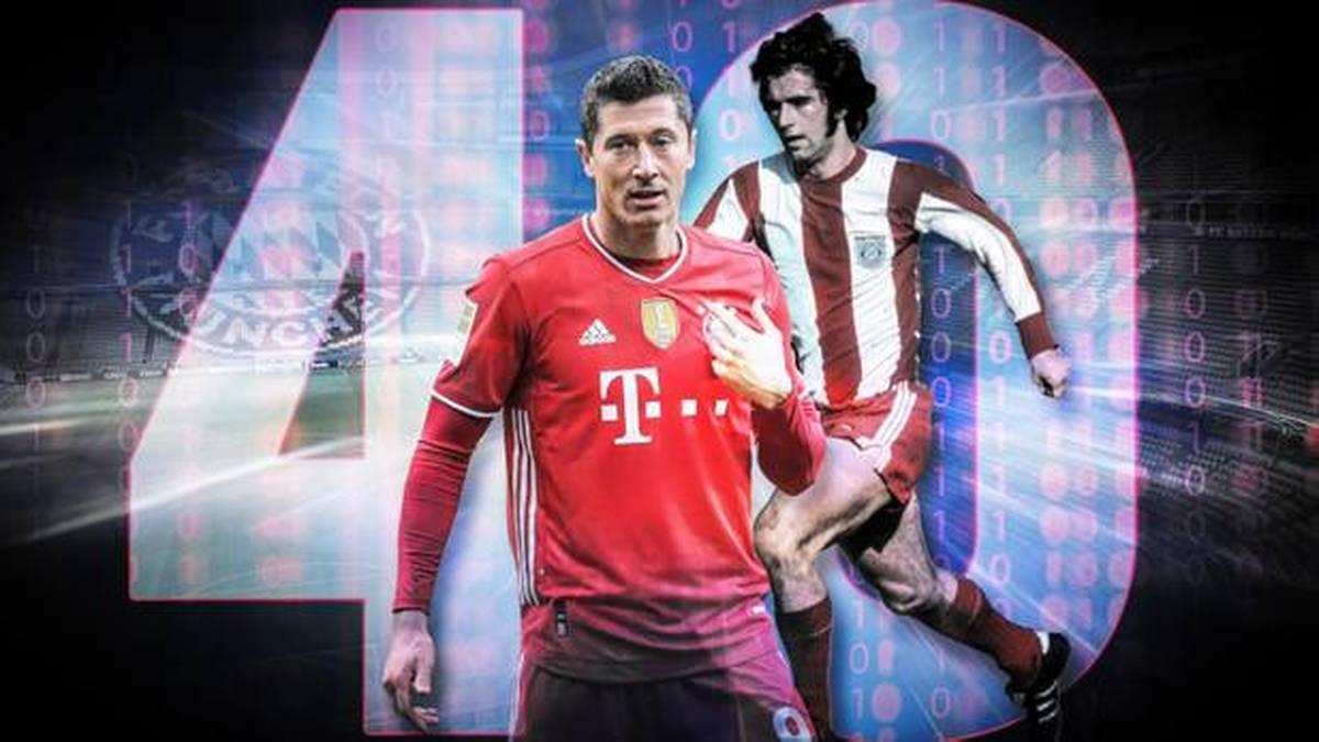Ein einziges Tor fehlt Robert Lewandowski noch, um den uralten Torrekord von Gerd Müller einzustellen. Seine bisherigen 39 Bundesliga-Treffer gibt es hier im Video zu bestaunen.