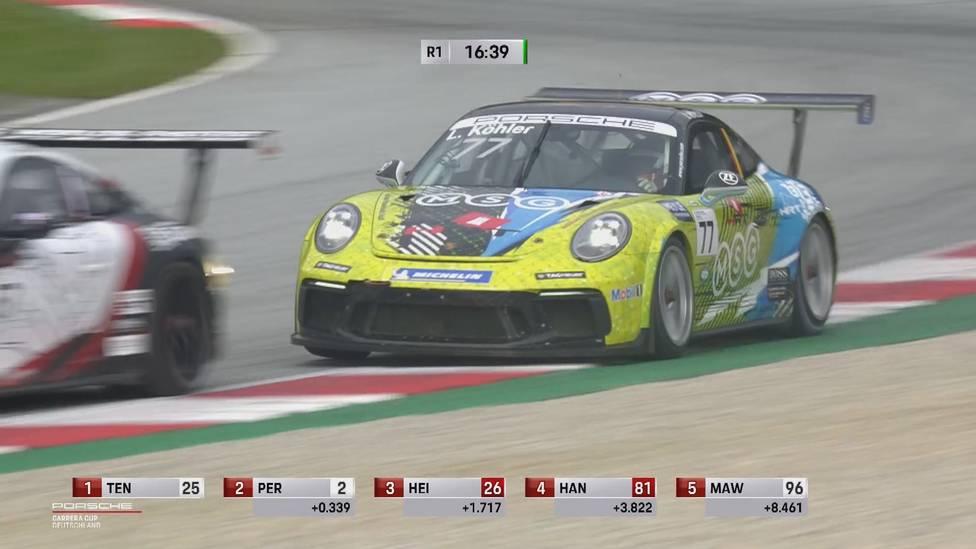 Leon Köhler verpatzt den Start von der Pole-Position und kämpft sich in spannenden Duellen zurück nach vorne.