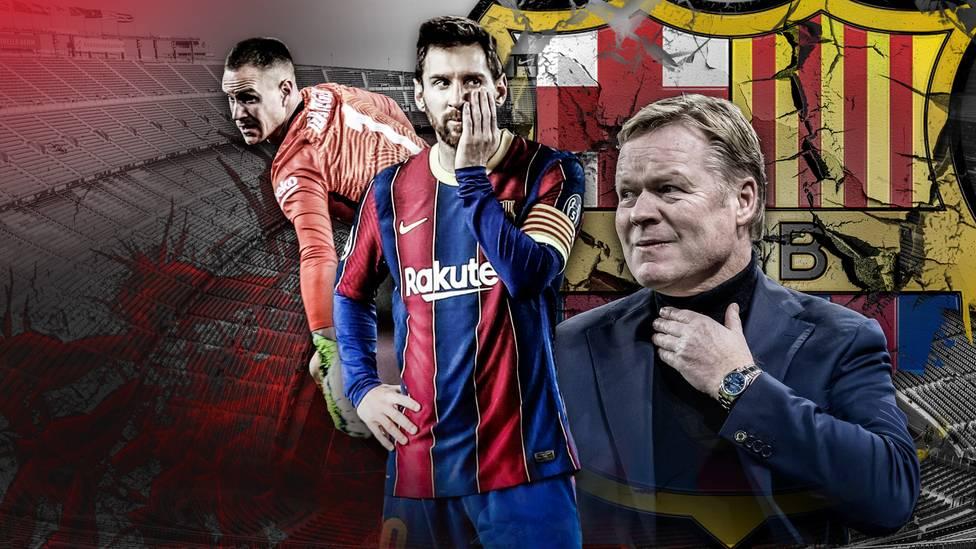 Dem FC Barcelona droht eine Saison ohne Titel. Zudem steckt der Klub in einer finanziellen Krise.