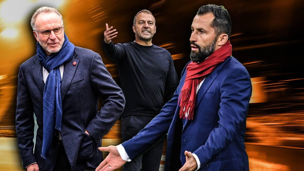 """Die Gedankenspiele von Hansi Flick mit dem DFB setzen den FC Bayern unter Druck. Hat Flick die Bayern gar """"im Würgegriff""""?"""