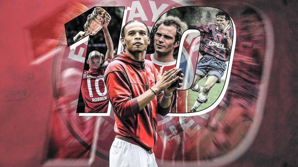 Die legendäre Rückennummer 10 bekommt Leroy Sané in München. Damit wird er zum Nachfolger echter FCB-Legenden.