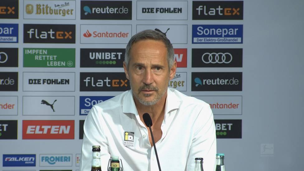 Nach dem 1:1-Eröffnungsspiel zwischen Bayern und Gladbach bleiben vor allem zwei strittige Szenen in Erinnerung: Adi Hütter und Julian Nagelsmann äußern sich zur Elfer-Debatte.