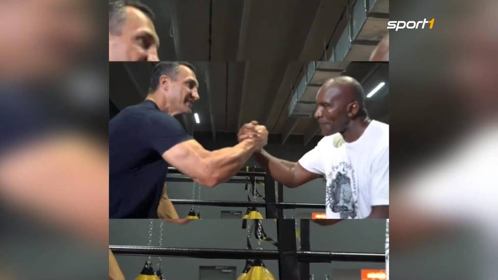 Evander Holyfield trainiert weiter fleißig für einen möglichen Showkampf gegen Mike Tyson. Nun hat sich der 57-Jährige Unterstützung von Schwergewichtsweltmeister Wladimir Klitschko geholt.