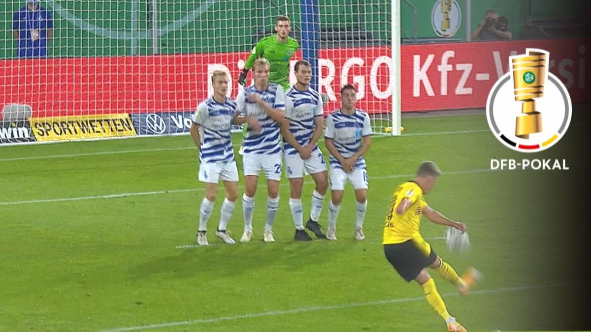 Borussia Dortmund zieht im DFB-Pokal ohne Mühe in die zweite Runde ein. Marco Reus feiert gegen den MSV Duisburg ein perfektes Comeback.