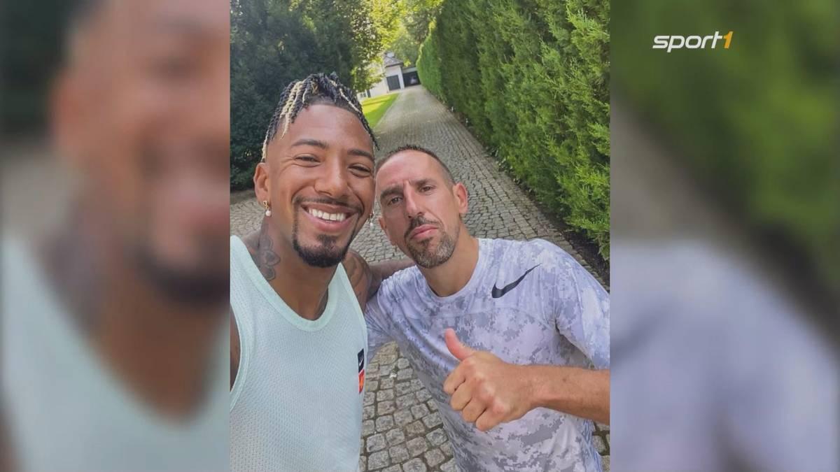 Nach dem gemeinsamen Training mit David Alaba trifft sich Franck Ribéry jetzt mit dem nächsten Ex-Bayern-Spieler, um alte Zeiten aufleben zu lassen.