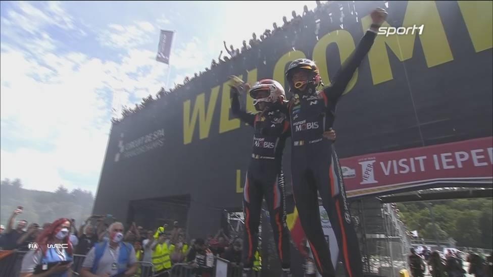 Thierry Neuville gewinnt auf der legendären Formel-1-Strecke in Spa seine Heim-Rallye in Belgien. Am Freitag und Samstag sorgen zwei Piloten für Schrecksekunden.