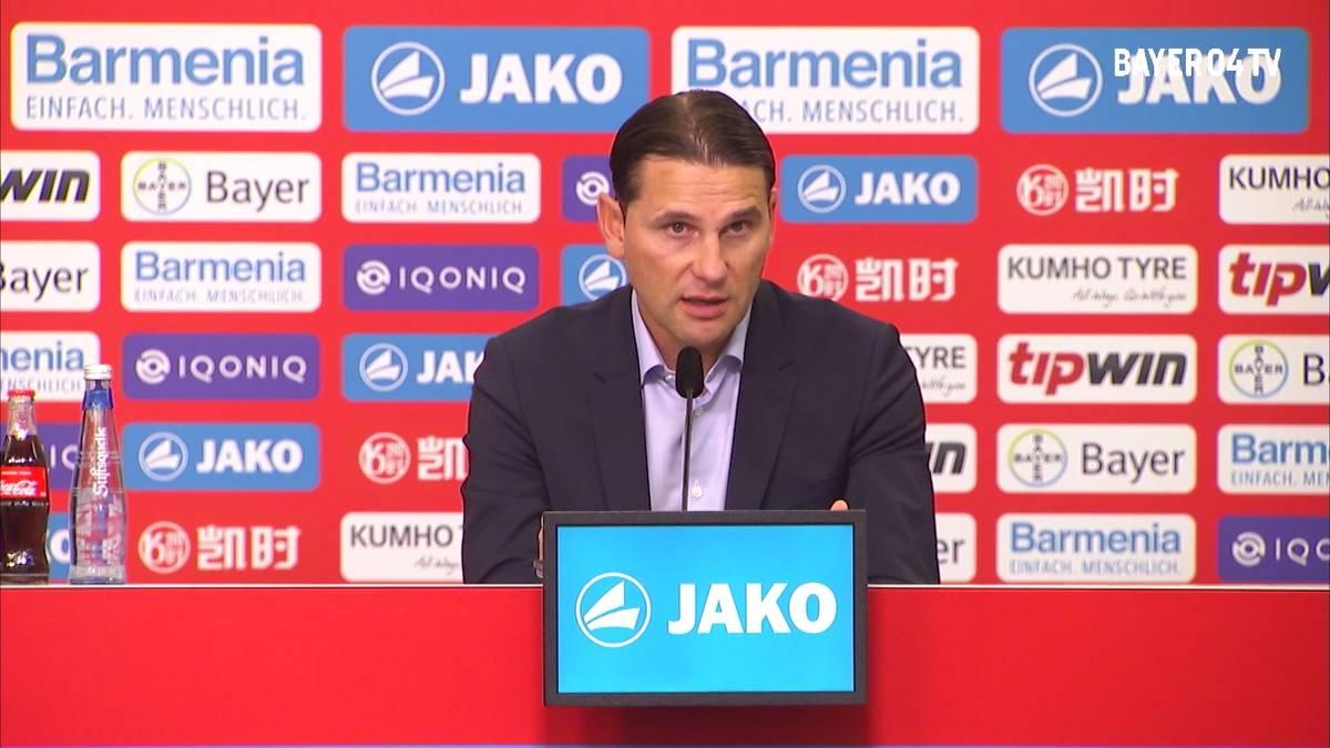 Gerardo Seoane gibt sich bei seiner Vorstellung als Trainer bei Bayer Leverkusen geheimnisvoll und will sich nicht zu leicht in die Karten schauen lassen. Seine Art des Fußballs soll aber variabler werden.