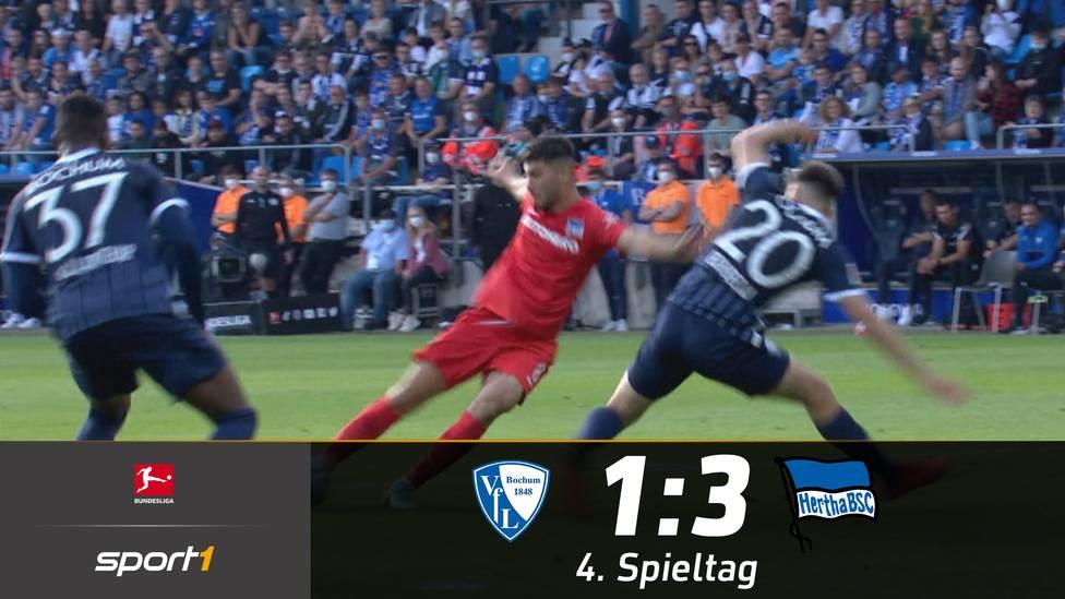 Hertha BSC gewinnt mit 3:1 beim VfL Bochum. Die Berliner fahren mit diesem Dreier ihre ersten Punkte in der laufenden Spielzeit ein. Bedanken können sich die Hauptstädter bei Suar Serdar.