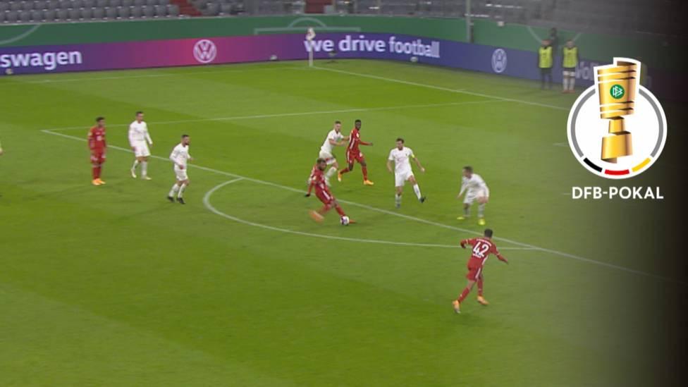Der FC Bayern hat mit dem Fünftligisten 1. FC Düren Mühe. Neuzugang Eric Maxim Choupo-Moting führt die Münchner letztlich aber zu einem ungefährdeten Sieg.