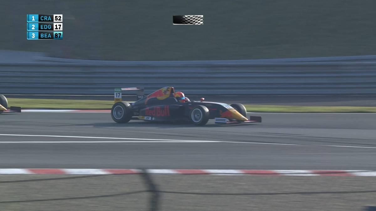 Im vorletzten Rennen der ADAC Formel 4 lässt Jak Crawford seinem Teamkollegen Jonny Edgar keine Chance. Wer den Meistertitel holt entscheidet sich erst am Nachmittag.