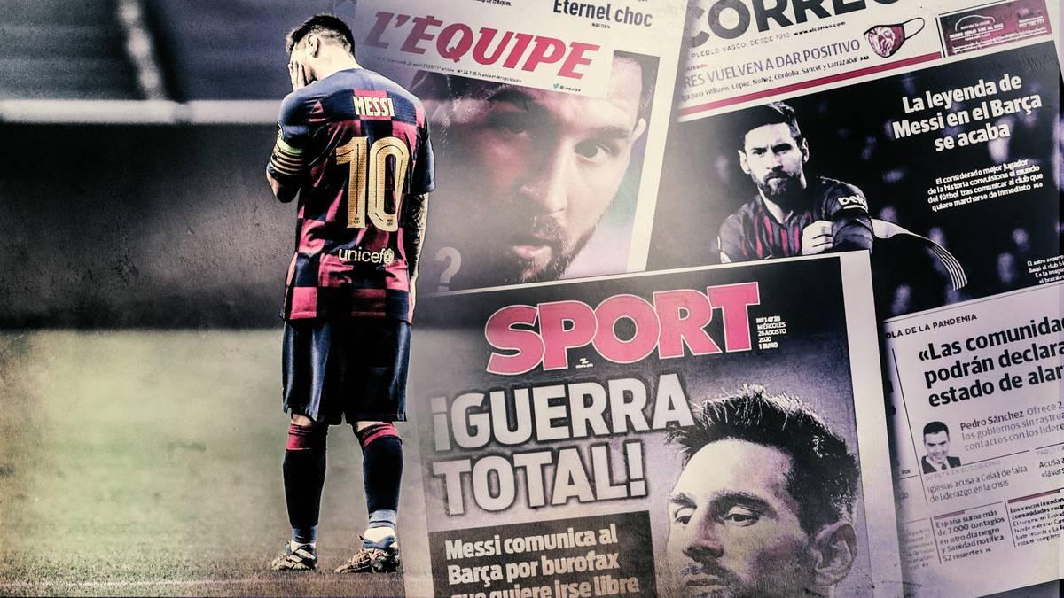 Lionel Messi kommt wie erwartet nicht zur ersten Testreihe beim FC Barcelona - und kann somit nicht mit dem Team trainieren. Die Zukunft ist völlig unklar.