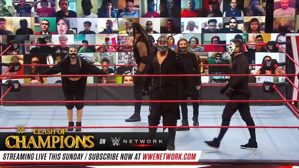 Bei WWE Monday Night RAW offenbart die Gruppierung Retribution ihre neue Optik, erklärt, was sie vorhat - und verteilt eine weitere Abreibung.