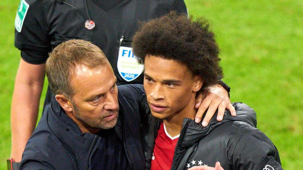 Leroy Sané ist zuletzt öfter mal in die Kritik geraten. Bayern-Coach Hansi Flick stellt sich aber vehement vor den Neuzugang.