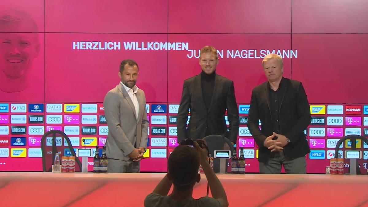 Julian Nagelsmann ist endgültig beim FC Bayern und spricht über Taktik, Campus, Spieler und Leroy Sané, für den er schon einen Plan hat