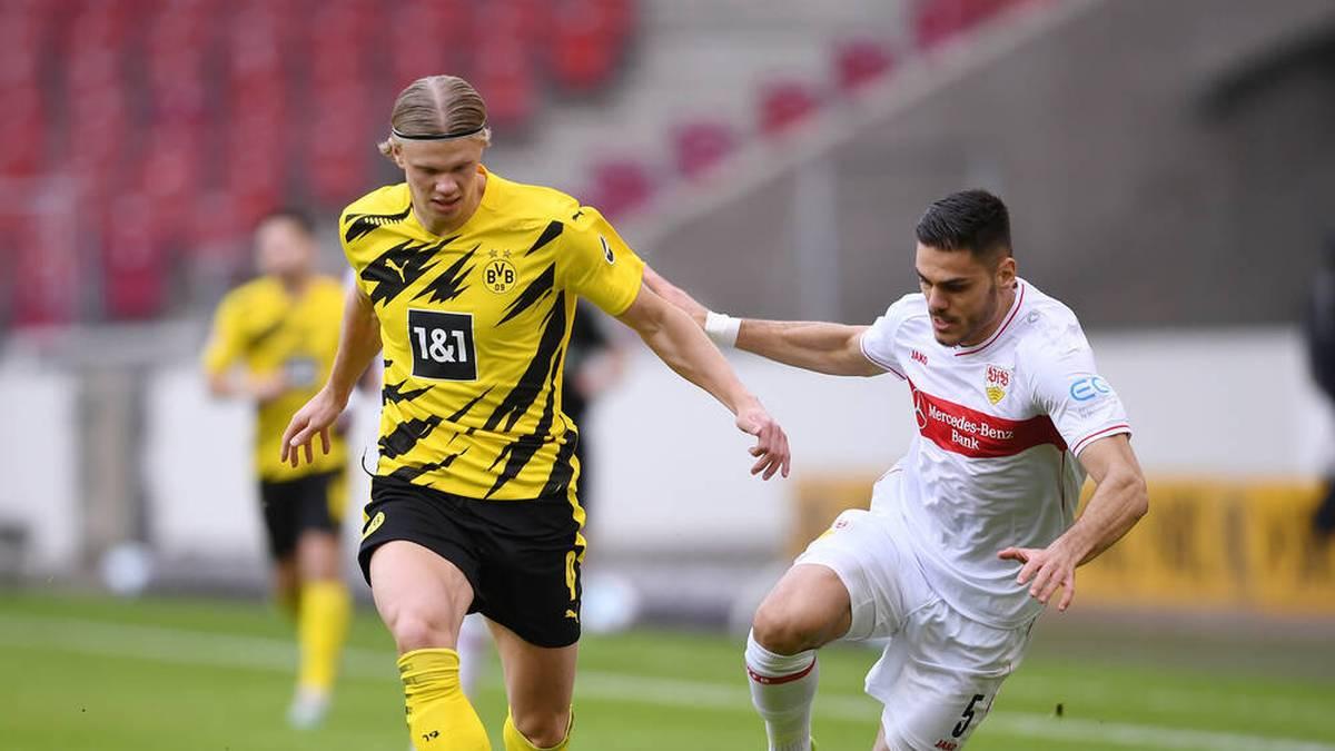 Erling Haaland hat beim 3:2-Sieg des BVB beim VfB Stuttgart einen Saisonrekord in Sachen Geschwindigkeit aufgestellt. Der Norweger war mit unfassbaren 36,04 km/h unterwegs.