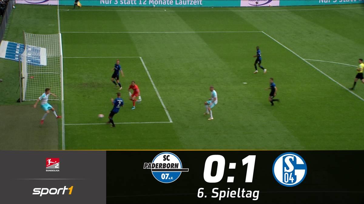 Schalke 04 ist in der zweiten Liga angekommen! Die Knappen erkämpfen sich beim Tabellenzweiten in Paderborn einen 1:0-Sieg und rücken damit in der Tabelle bis auf Rang sieben vor.