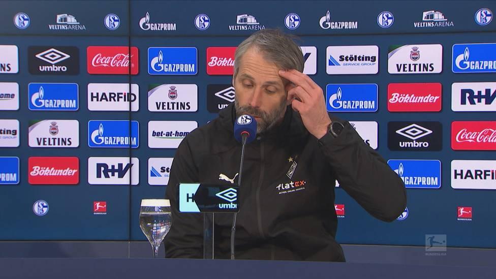 Borussia Mönchengladbach feiert gegen Schalke einen Befreiungsschlag. Dementsprechend erleichtert zeigt sich Coach Marco Rose nach der Partie.