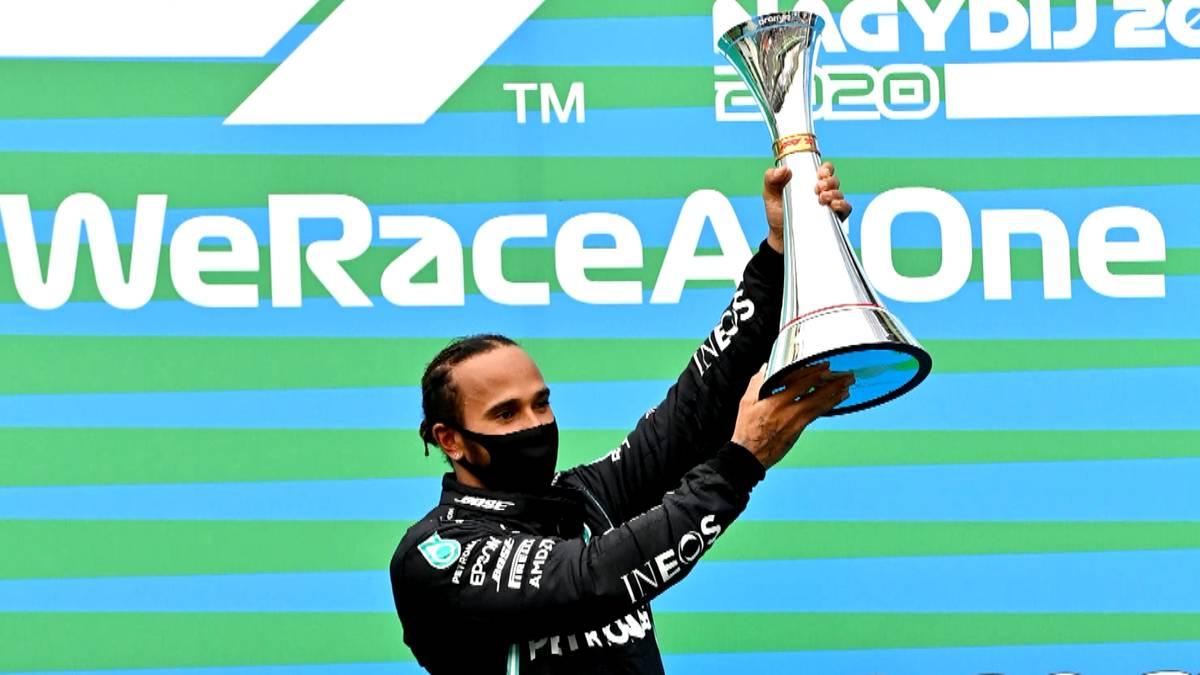 Lewis Hamilton hat mit erdrückender Dominanz in seinem Mercedes zum achten Mal den Großen Preis von Ungarn gewonnen.