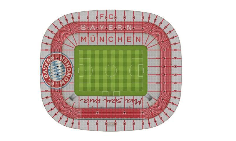 Die Änderungen in der Allianz Arena noch einmal in der Übersicht aus der Vogelperspektive