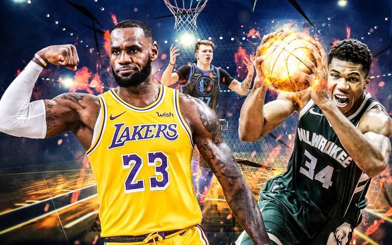 promo code e314c b9bc7 ... 2019 mit LeBron James und Giannis Antetokounmpo. NBA All-Star Game