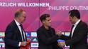Die Bayern-Bosse Karl-Heinz Rummenigge (l.) und Hasan Salihamidzic präsentierten am Montag Philippe Coutinho