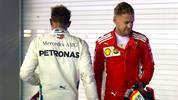 Lewis Hamilton durfte sich beim Singapur-GP über den Sieg freuen, Sebastian Vettel wurde Dritter