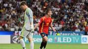 Alexander Nübel leistete sich vor dem 0:2 für Spanien im U21-EM-Finale gegen Deutschland einen bitteren Fehler