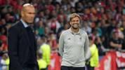 Jürgen Klopp (r.) hat trotz der Niederlage gegen Real Madrid seinen Humor nicht verloren