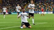 Marco Richter (l.) war beim Sieg gegen Dänemark an allen drei Toren Deutschlands beteiligt