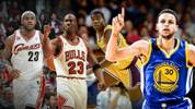 LeBron James, Michael Jordan, Magic Johnson und Stephen Curry