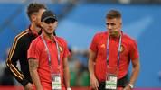 Eden Hazard's (l.) brother Thorgan (r.) isn't sure about staying at Borussia Mönchengladbach