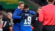 Hoffenheim-Trainer Julian Nagelsmann (l.) kann sich in dieser Saison auf Mark Uth verlassen