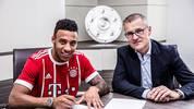 Corentin Tolisso (l.) unterschrieb bis 2022 beim FC Bayern