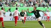 Wout Weghorst erzielte bei 8:1 des VfL Wolfsburg gegen den FC Augsburg einen Dreierpack