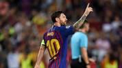 Lionel Messi vom FC Barcelona gegen PSV Eindhoven